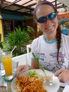 Carb loading - Pad Thai in Thailand!